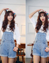 Blue Jeans Overalls Shorts
