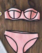 8 Colors Summer Contrast 2PC Bikini Swimwear