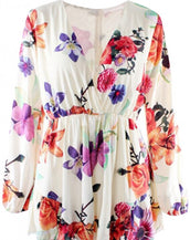 Gorgeous Floral Print Long Sleeve Rompers