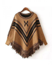 Fashion Tassel Cloak Style Pullover Sweater