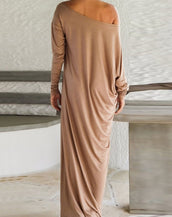 Fashion Solid Color Maxi Dress