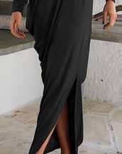 Fashion Back Split Maxi Dress