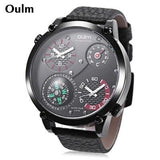 Oulm HP3707 Outdoor Watch With Compass And Thermometer - ClickWear