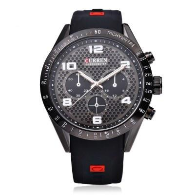 CURREN 8167 Men's Sports Watch With Rubber Strap - ClickWear