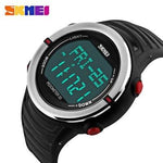 Skmei 1111 Sports Wristwatch With Pedometer And Heart Rate Monitor - ClickWear