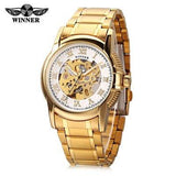 Winner 201 Men's Auto Mechanical Skeleton Wristwatch - ClickWear