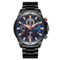 "CURREN ""The Blues"" Men's Quartz Dress Wristwatch - ClickWear"