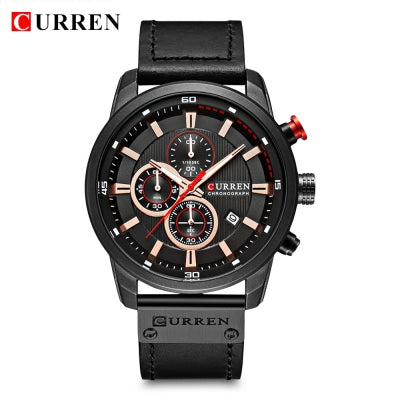 Curren 8291 Men's Quartz Leather Strap Wristwatch
