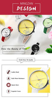 MINGZAN 6107 Ladies Flower Pattern Wristwatch - ClickWear