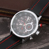 CURREN 8179 Men's Leather And Steel Large Dial Quartz Wristwatch