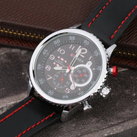 CURREN 8179 Men's Leather And Steel Large Dial Quartz Wristwatch - ClickWear