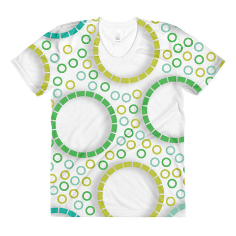 Circles - Sublimation women's crew neck t-shirt