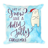 Christmas is coming X 2 - Square Pillow