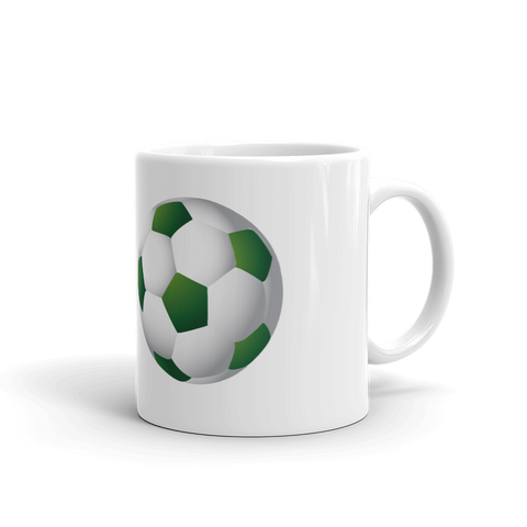 GrönVit Fotboll - Mug made in the USA