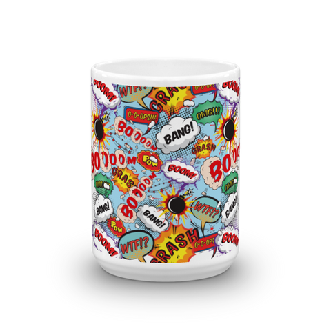 Comics Bubbles - Mug made in the USA