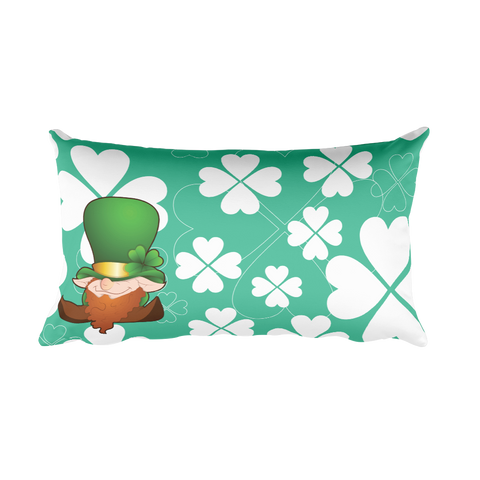 Green luck - Rectangular Pillow