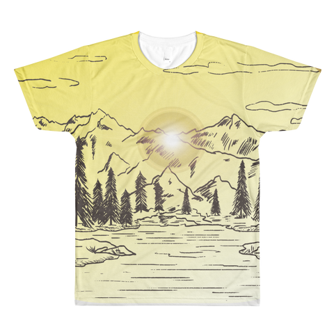 Mountain - Sublimation men's crewneck t-shirt