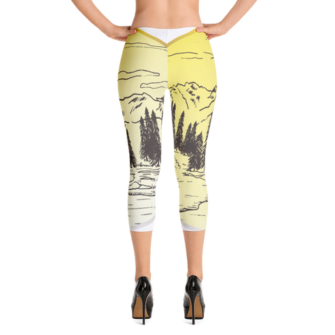 Mountain - Capri Leggings