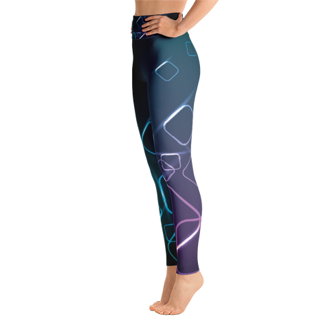 Dark Squares -  Yoga Leggings