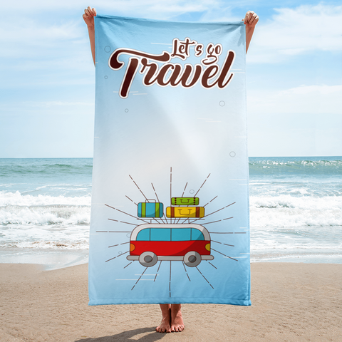 Let's Go Travel - Towel