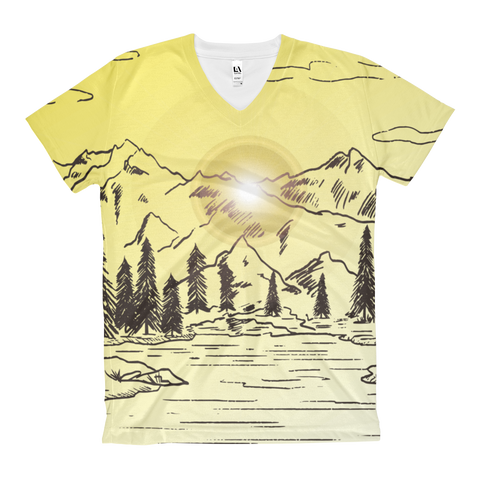 Mountain - Women's V-Neck T-Shirt