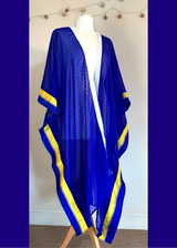 Royal Blue & Canary Yellow Kimono Cape