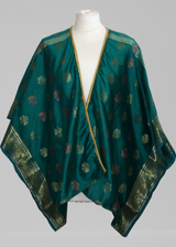 Luxury Fashion Anene Kimono Top - Cobalt Turquoise with Gold detail