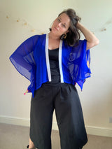 Royal Blue Short Kimono Top