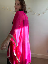 Fuschia Pink Evening Coat