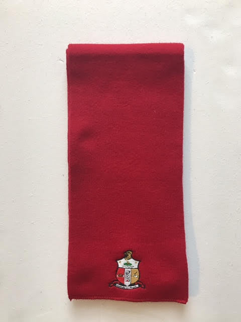 Kappa Knit Scarf with Crest (One Size)
