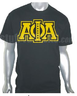 DTG-Letters(Black)-Alpha Phi Alpha- Pre-Order for Atlanta Greek Picnic Pick Up At Zeus Closet