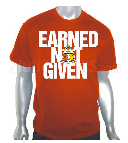 DTG- Earned Not Given-Kappa Alpha Psi- Pre-Order for Atlanta Greek Picnic Pick Up At Zeus Closet