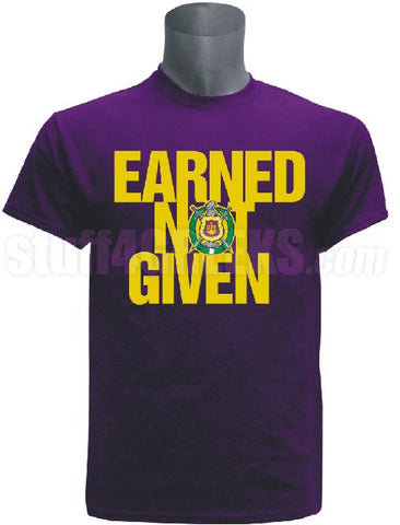 DTG- Earned Not Given-Omega Psi Phi - Pre-Order for Atlanta Greek Picnic Pick Up At Zeus Closet
