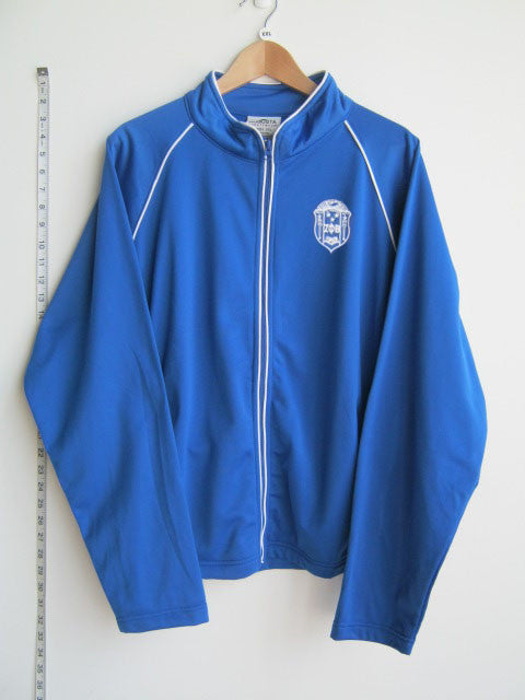 Size 2XL: Zeta Crest Track Jacket, Royal Blue - EMBROIDERED with Lifetime Guarantee