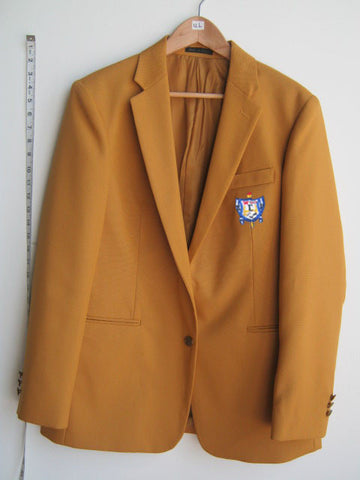 Size 12L: SGRho Blazer with Crest, Gold - EMBROIDERED with Lifetime Guarantee