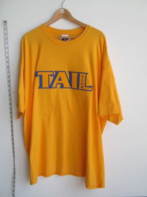 Size 3XL: Tail Club T-Shirt, Gold - Screen Printed