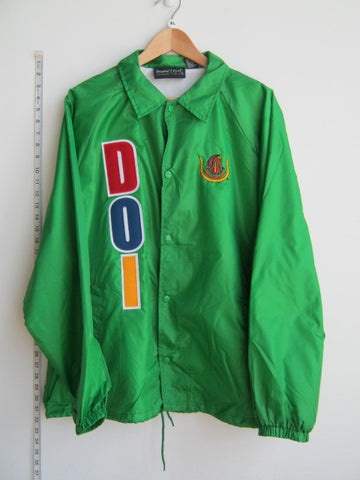 Size XL: DOI Letter Crossing/Line Jacket with Shield, Kelly Green - EMBROIDERED with Lifetime Guarantee