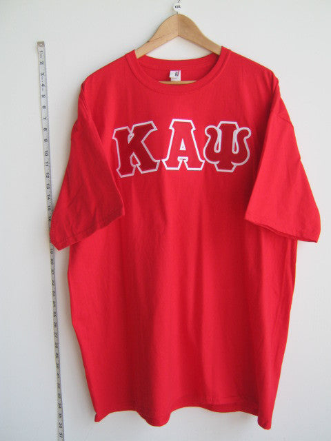 Size 2XL: Kappa Greek Letter T-Shirt, Red - EMBROIDERED with Lifetime Guarantee