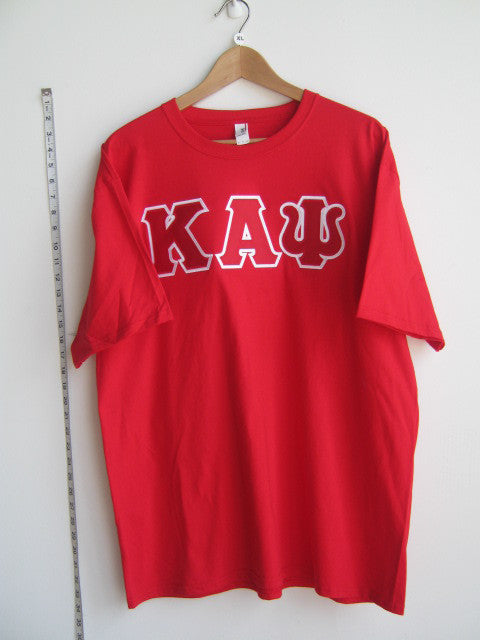 Size XL: Kappa Greek Letter T-Shirt, Red - EMBROIDERED with Lifetime Guarantee