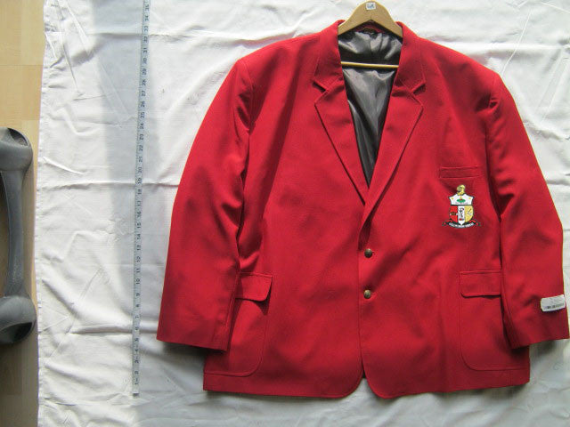 Size 60R: Kappa Blazer with Crest, Red - EMBROIDERED with Lifetime Guarantee