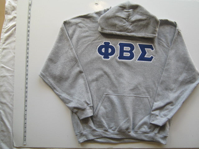 Size 2XL: Sigma Greek Letter Hoodie, Gray - EMBROIDERED with Lifetime Guarantee