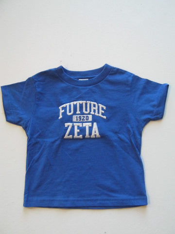 Size 5/6T: Future Zeta FratBrat T-Shirt, Royal Blue - EMBROIDERED with Lifetime Guarantee