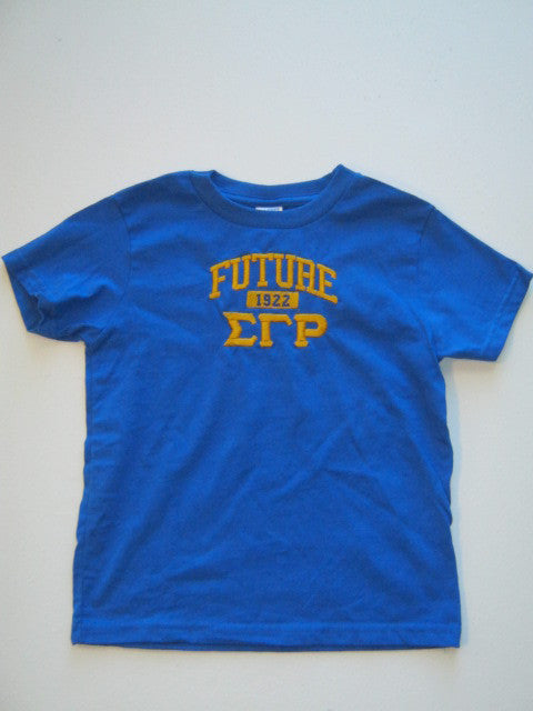 Size 5/6T: Future SGRho FratBrat T-Shirt, Royal Blue - EMBROIDERED with Lifetime Guarantee