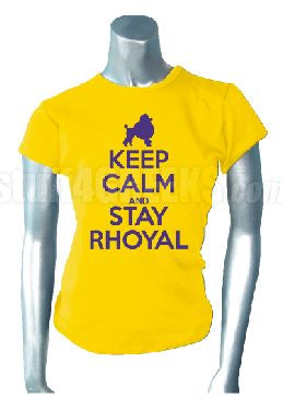 DTG-Keep Calm Stay Rhoyal-SGRho- Pre-Order for Atlanta Greek Picnic Pick Up At Zeus Closet