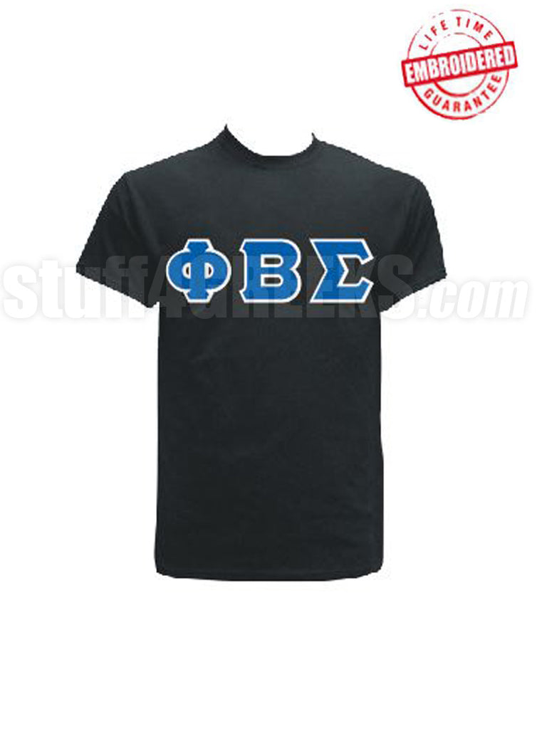 Merveilleux EMB Letters(Black) Phi Beta Sigma  Pre Order For Atlanta