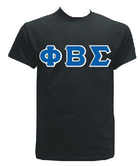 DTG-Letters(Black)-Phi Beta Sigma- Pre-Order for Atlanta Greek Picnic Pick Up At Zeus Closet
