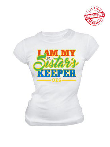 EMB-I Am My Sistars Keeper-Order of the Eastern Star- Pre-Order for Atlanta Greek Picnic Pick Up At Zeus Closet