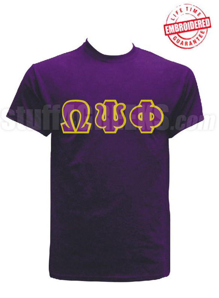 EMB-Letters(Purple)-Omega Psi Phi - Pre-Order for Atlanta Greek Picnic Pick Up At Zeus Closet