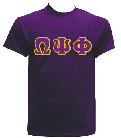 DTG- Letters(Purple)-Omega Psi Phi - Pre-Order for Atlanta Greek Picnic Pick Up At Zeus Closet