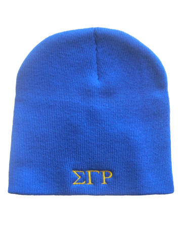 SGRho Greek Letter Beanie, Royal Blue (One Size)